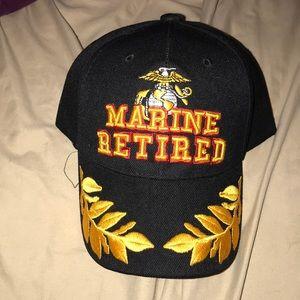 NWT, Marine Retired baseball hat